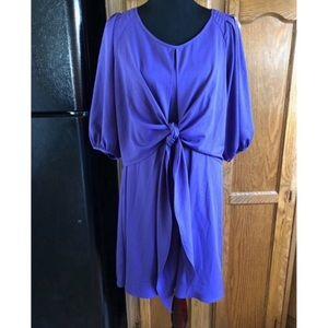 Gabby Skye Purple Tie Front Dress Size 14